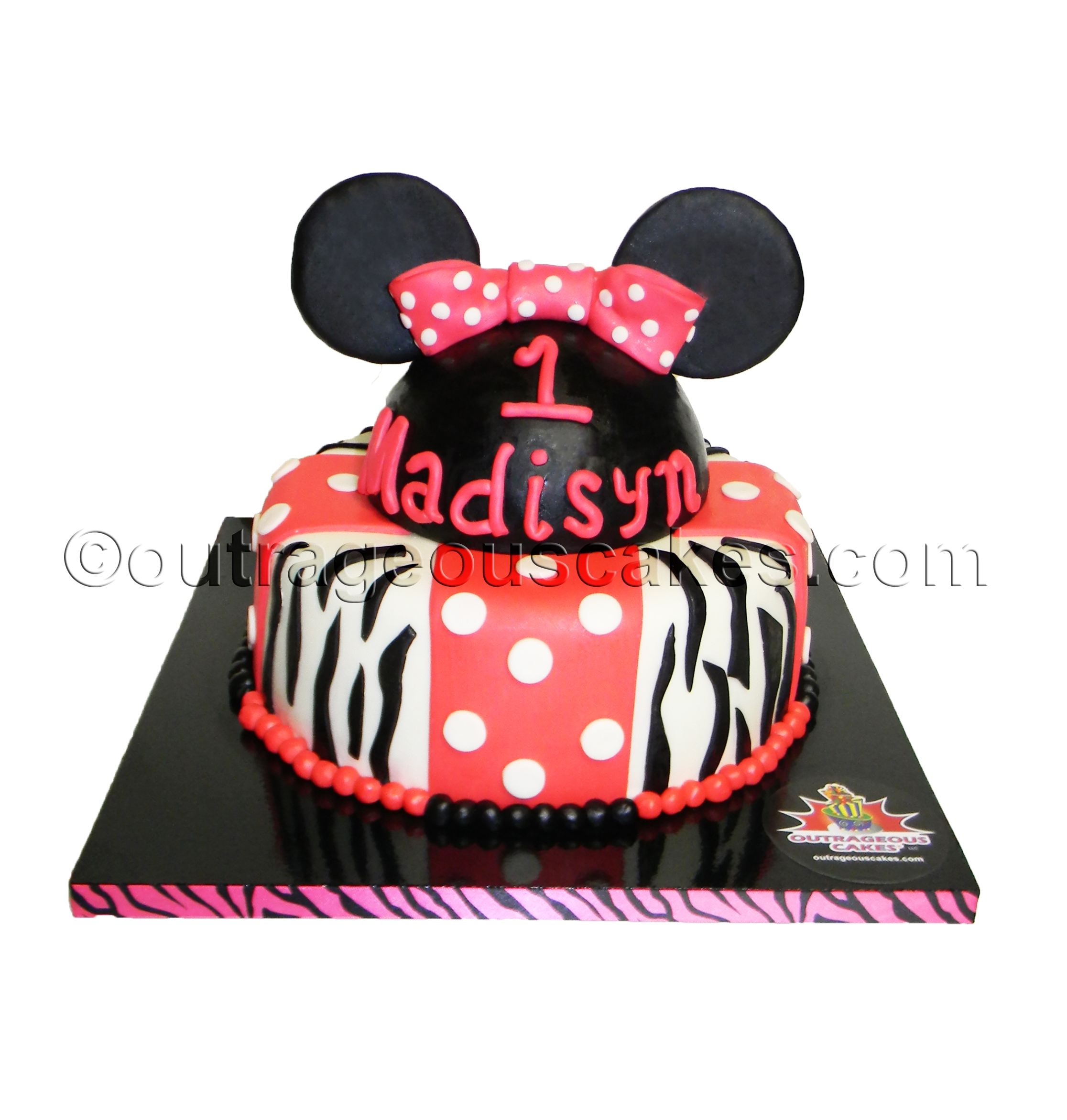 Minnie Mouse Cake   Minnie Mouse cake.