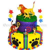 Liom King Themed Cake   Lion King themed cake