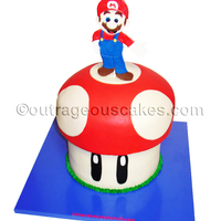 3D Mario On Top Of Mushroom 3D Mario on top of mushroom.