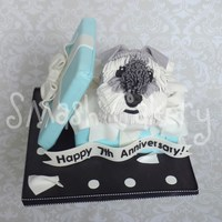 Schnauzer Tiffany Box Cake This cake is my version of the beautiful and stunning Tiffany Box/Schnauzer cake originally designed by Isabelle at The Designer Cake...