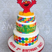 "Elmo Birthday Cake This design was inspired by Jessica Harris' original elmo cake, and Jessica at ""It's a Piece of Cake"" here in Houston...."