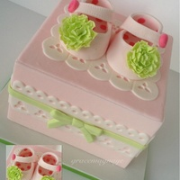 Baby Shoes Cake Baby shoes cake