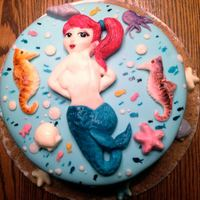 Pin-Up Mermaid Mermaid, seahorses, and shells are modeling chocolate