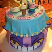 Mad Bridal Shower Cheshire cat Tea Party Alice in Wonderland Bridal Shower cake