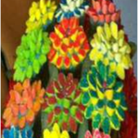 Bright Cupcake Bouquet bright colored made it for a friend :)