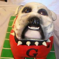 Georgia Bulldog Cake.. Requested That The Dog Be Looking Up.. All Snooty, *
