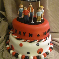 2 Tier Vanilla Cake With Vanilla Buttercream Covered In Fondant The Figurines Are Made Out Of Fondant Also First Time Doing Figurines 2 Tier Vanilla cake with vanilla buttercream covered in fondant. The figurines are made out of fondant also.(first time doing figurines)