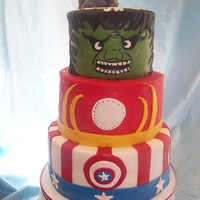 Avenger Birthday Cake.