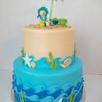 Beach Theme Baby Shower Cake Beach Theme Baby Shower Cake
