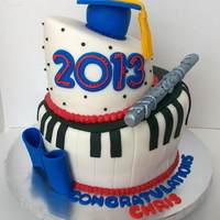 Music Theme Graduation Cake Music Theme Graduation Cake