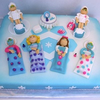 Sleepover Cake Spa Party Winter Wonderland Cake Sleepover Cake / Spa Party Winter Wonderland Cake