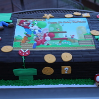 Super Mario Birthday Cake 12X18 Chocolate Sheet Cake Super Mario birthday cake. 12x18 chocolate sheet cake