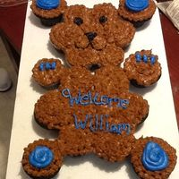 This Is A Teddy Bear Cupcake Cake The Cupcakes Are Blue Velvet With Buttercream Frosting This is a Teddy bear cupcake cake ! The cupcakes are blue velvet with buttercream frosting !!