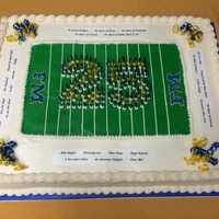 "Made This 18X24 Sheet Cake For A Band Director Who Was Celebrating 25 Years With The High School Marching Band Used Toothpicks The Ones Made this 18""x24"" sheet cake for a band director who was celebrating 25 years with the high school marching band. Used toothpicks..."