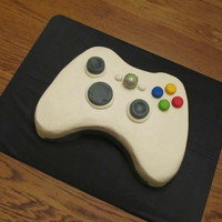 "9X13 Cake That I Cut Into Shape Of Xbox Controller Iced In Buttercream And I Made All Buttonscontrols Out Of Fondant 11272013 9""x13"" cake that I cut into shape of Xbox controller; iced in buttercream, and I made all buttons/controls out of fondant11/27/..."