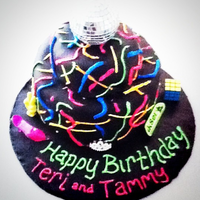 Graffiti Cake With Disco Ball Topper Graffiti Cake with Disco Ball Topper
