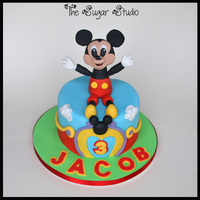 Mickey Mouse Clubhouse Cake With Handmade Cake Topper Mickey Mouse clubhouse cake with handmade cake topper