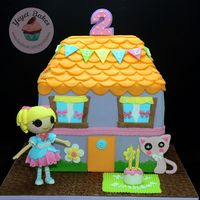 Lalaloopsy Dollhouse Cake My latest cake of the week- Lalaloopsy Dollhouse Cake