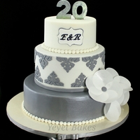 20Th Wedding Anniversary Cake I Made This Is My Gift For A Dear Couple Celebrating Their Platinum Wedding Anniversary Flowers Were Made Of... 20th Wedding Anniversary CakeI made this is my gift for a dear couple celebrating their Platinum Wedding Anniversary. Flowers were made of...