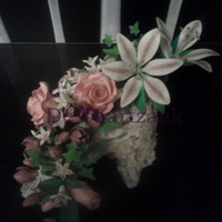 I Made This As A Showpiece For My Pme Sugarflower Course It Contains Lillys Roses Freesias Stephanotis Flowers Is That Also The Englis I made this as a showpiece for my PME Sugarflower course. It contains lilly's, roses, freesias, stephanotis flowers (is that also the...