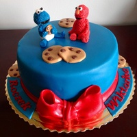 Elmo And Cookie Monster Cake.