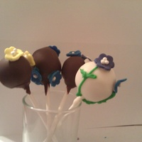 Past Cake Pops Flowers for Mother's Day.