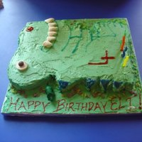Green T-Rex Dinosaur Birthday Cake This was the first birthday cake I made. My son was adamant he wanted a strawberry cake with green icing. So I found a great strawberry...