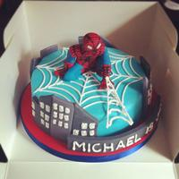 Spiderman Cake   *front view of the cake