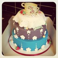 Tea Cup Party Cake   *front view
