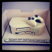 Xbox Cake   *front view of the Xbox cake
