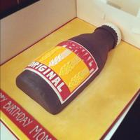 Supermalt Cake   *side view of the cake