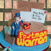 Postman Pat & His Black & White Cat Xx Postman Pat's Parcels x Last year Warren had a minion cake for his 1st birthday, this year for his 2nd it's postman pat, Jess and...