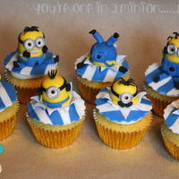 One In A Minion..... Vanilla Cupcakes with a vanilla buttercream and sugar paste toppers. For a Little girl mad about Minions!!