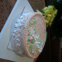 Honey Cake With Whipped Cream Filling And Fondant Flowers honey cake with whipped cream filling and fondant flowers