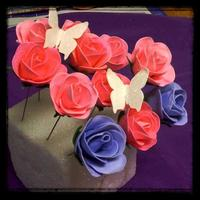 Beautiful Black Roses *Gumpaste Roses and sparkling gumpaste with edible pearl luster dust