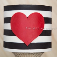 Black And White Striped Cake With Red Heart Created Using The Wax Transfer Techniques I Learned In The Clean Amp Simple Class Taught By J  Black and White Striped Cake with Red Heart Created using the wax transfer techniques I learned in the Clean & Simple Class taught by...