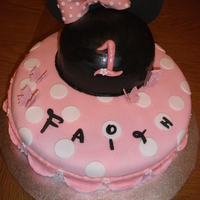Various Cakes   Minnie mouse themed cake for a princesses 1st birthday. Themed upon Royal Bakery's Minnie mouse cake