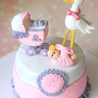Stork And Baby Cake Stork and Baby cake Finally I got a chance to make a baby shower cake. I was very excited and enjoyed each and every sec making this one....