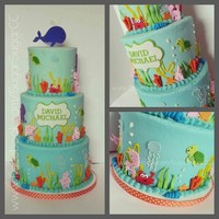 Under The Sea Themed Birthday Cake Under the Sea themed birthday cake.