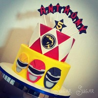 Power Rangers Themed Birthday Cake