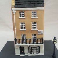 A House Cake Made Of Chocolate Cake And Smbc The Cake Bulged At The Sides Which Is Why The Walls Are Wonky Bay Window And Balcony Made Of  A house cake made of chocolate cake and Smbc. The cake bulged at the sides which is why the walls are wonky. Bay window and balcony made of...