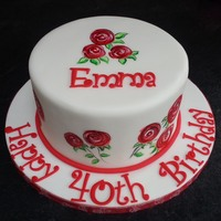 The Roses Were Painted Onto Fondant Covered Chocolate And Vanilla Cake I Used A Picture As Inspiration And Modified The Roses Slightly The roses were painted onto fondant covered chocolate and vanilla cake. I used a picture as inspiration and modified the roses slightly.
