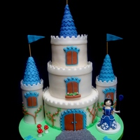 "3 Tiered Castle Cake Bottom 8 Tier Is Chocolate Cake With Raspberry Buttercream With Pureed Raspberries And 6 And 4 Tiers Are Both Ch  3 tiered castle cake. Bottom 8"" tier is chocolate cake with raspberry buttercream (with pureed raspberries), and 6"" and 4""..."