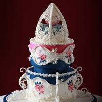 Ombre Navy Pink Wedding Cake This cake was published in Cake Central Magazine Volume 4 Issue 4