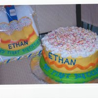 Plain And Simple Buttercream Cake To Match Birthday Boys Bibi Like The Easy To Please Customers Plain and simple Buttercream cake to match birthday boy's bib....I like the easy to please customers :)