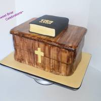 Pulpit With Holy Bible Cake Pulpit with Holy Bible Cake