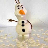 "Olaf, The Snowman From The Disney Movie ""frozen"" all gumpaste, complete edible"