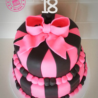 Pink And Black Themed 18Th Birthday Cake Chocolate Cake With Ganache And Covered In Fondant Follow Me On Facebook Wwwfacebookcomth Pink and black themed 18th birthday cake. Chocolate cake with ganache and covered in fondant. Follow me on facebook: www.facebook.com/...