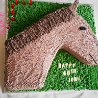 Its A Horse Of Course Chocolate Cake Filled With Milk Chocolate Ganache And Covered In Buttercream It's a horse of course! Chocolate cake filled with milk chocolate ganache and covered in buttercream.