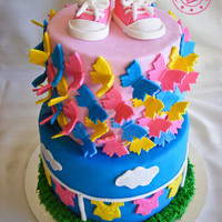 All The Brief Was Was To Use Bright Pink Bright Blue And Yellow The Rest Was Up To Me Cherry Ripe Mud Cake Filled With Ganache And Cove All the brief was was to use bright pink, bright blue and yellow. The rest was up to me! Cherry ripe mud cake filled with ganache and...